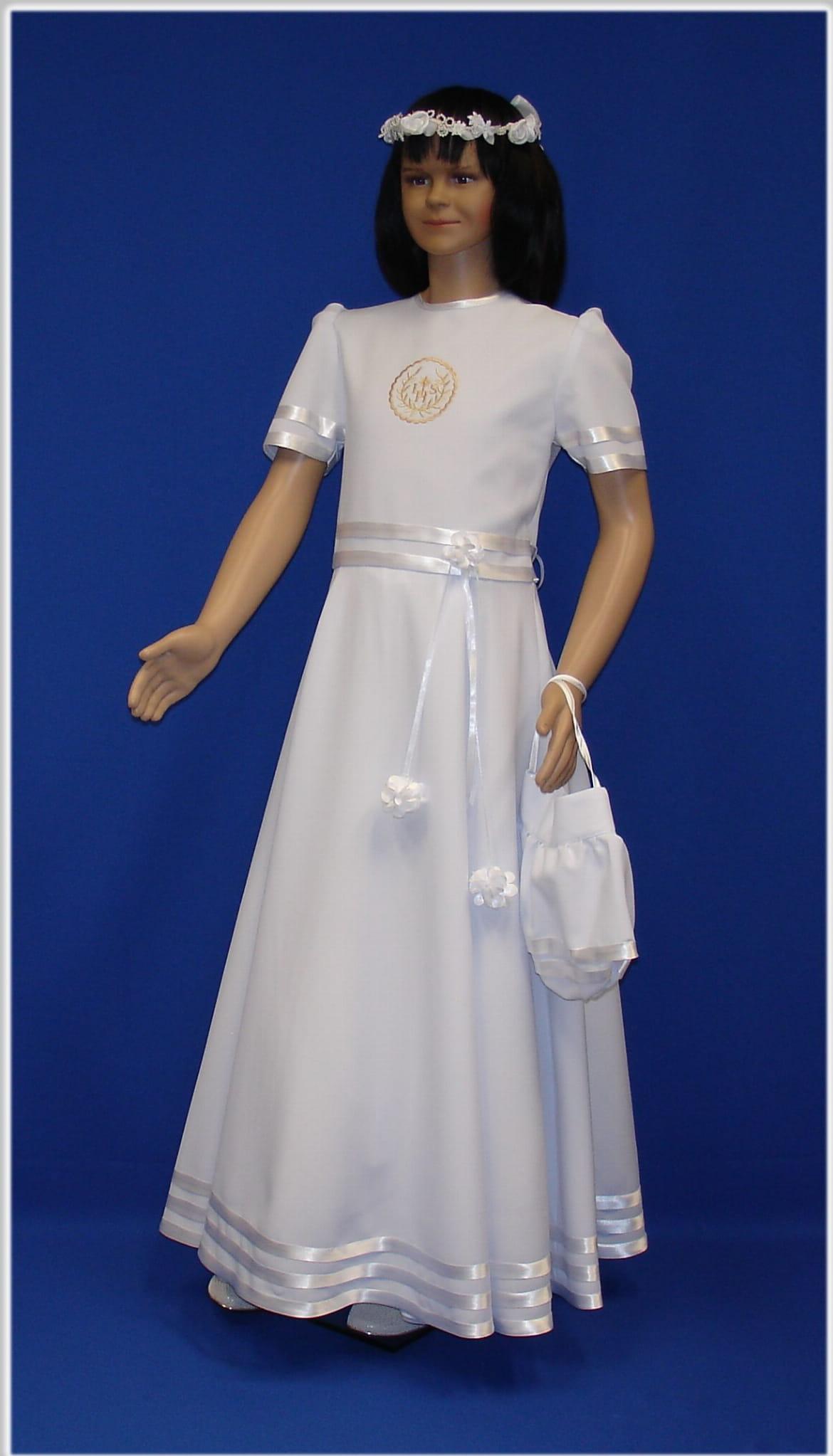 3966e34bb7 Sukienka komunijna ASKS 01 Pracownia Szat Liturgicznych SlawTom